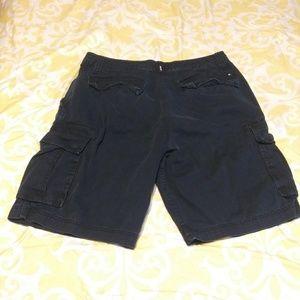 Hurley Mens Dark Blue Cargo Shorts Size 36